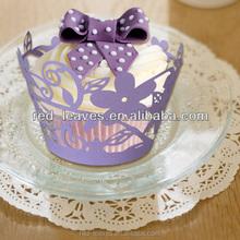 wedding decoration supplies cake purple paper wrapper in guangzhou