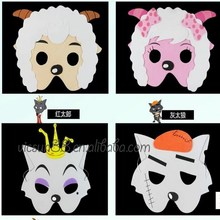 MJ-063 Yiwu Caddy DIY Halloween kid's cartoon eva foam animal mask