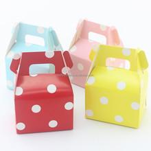 Polka dot wedding candy box, for Colorful Themed Kids Boys girls Birthday Children's Day Party, Kids thanks gjft Decoration