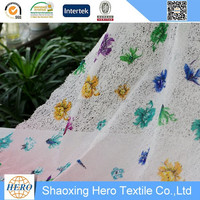 Water soluble printing lace fabric hot sell 100%polyester embroidery chemicals products