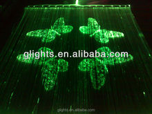 hot sale fiber optic waterfall light butterfly curtain