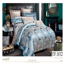 European silk jacquard colorful cheap bedding set cheap wedding 100% cotton 3d bedding set 3d embroidery luxurious bed cover set