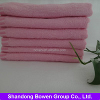 high quality Kitty cat embroidery pink plain weave cotton face towel from China