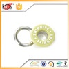 Factory custom round metal cotton eyelet fabric and eyelet curtain tape