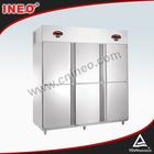 6 portas dupla temperatura meia meia freezer geladeira/frigoríficos para frutas/topping de geladeira