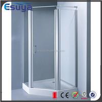 Shanghai manufacturer new design hinge glass cheap enclosed shower cubicle