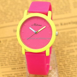 OEM Fashion Women Geneva Sport Ladies Silicone Watches Strap NEW 2015