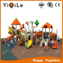 happy forest amusement plastic silde for kids