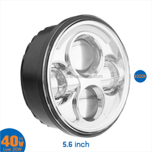 """5.6"""" Round LED Headlight/Front Light/DRL 40W High Low Beam Motorcycle Headlamp for Harley"""