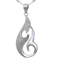 High Quality YiWu Market S925 Silver AAA Crystal Tearshap Pendant New Products 2016