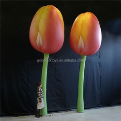 Giant inflatable tulips for advertising