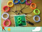 11 cores disponíveis 3m luz de néon flexível fio el brilho tubo corda com controlador para o festa de dança
