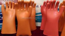 high voltage electrical insulating gloves /electrician prevent electric charging 12 volt operation 10KV gloves rubber gloves