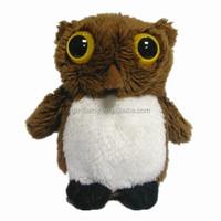 soft stuffed plush owl with big eyes plush bird toy