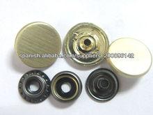 Botón manera uniforme, redondo personalizado anillo cepillado encaje