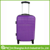 2015 popular ABS+PC cabine size trolley hard case travel luggage