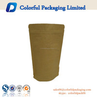 Natural Kraft Mylarfoil Standup Pouch with Zipseal and Tear Notch with valve