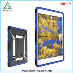 Multi Color Rugged case For Ipad mini4 Tablet,Kickstand Hard Case For Ipad mini 4
