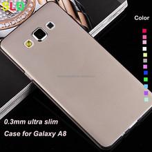 ultra thin silicone 0.3 mm case for Samsung Galaxy A8 A8000