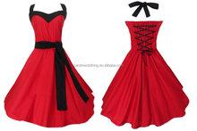 evening dresses sale women wedding party bridal wear red 50's designs knee length short bridesmaid dress