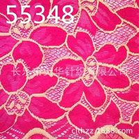 nylon spandex knitted beautiful lace fabric for dress making TH brand