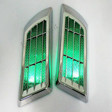 Solar Power False Tuyere Warning Light Refires Air Inlet Artificial Intaglios Engine Cover Decoration Tuyeres