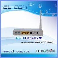 4fe+wifi EOC Slave Ethernet Over Coax Cable Modem EOC router