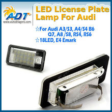 Best price!!! Racing Dash LED license plate lamp for audi Q7 A3 A4 B6