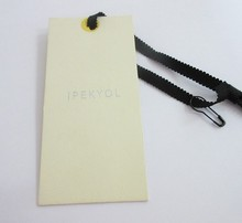Custom Garment Scarf Tag Screen Printed Cheap Clothing Hang Tag