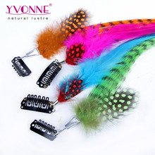 Alibaba wholesale synthetic clip in feather hair extension