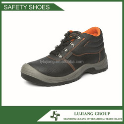 Embossed cow split leather PU outsole safety boots, industrial safety shoes LJ-ZD52