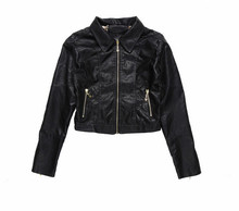 high quality custom women sexy women leather jacket with fur collar