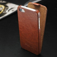 2014 New Arrival Original Retro PU Leather Flip cover for iPhone 5 5S 5g