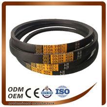 long life anti oil and heat industrial machine drive v belt Z,A,B,C,D,E(wrapped v belt)