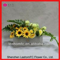 beautiful sunflower Flowers handmade silk flower arrangement
