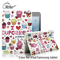 Sweet Cup Cake Leather Cover sublimation case for ipad mini