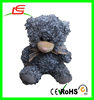 LE B0280 new design Curly Fleece gray bear plush toy with scarf