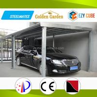 Economical portable steel frame car sheds
