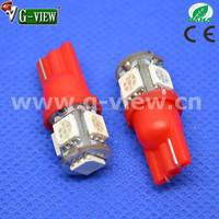 Colorful LED light bulb for cars T10 5smd 5050 auto turn tail signal led lamps