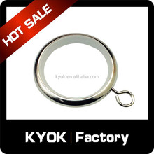 Great creator decorative resin curtain rings with clips for different sizes of metal curtain pole
