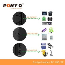 Portable Solar Power Bank for Laptop, Fan, Smart Phone or Iphone, Tablet, Lamp, Audio Equipment by Shenzhen Sinopoly