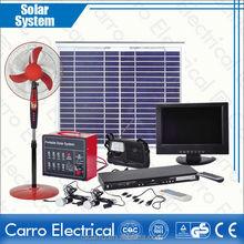 new design Portable CES-1226 60W solar panel 15'' LCD TV Solar Home System/Home Solar System/Solar System for home