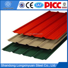 colorful prefab home roofing sheet