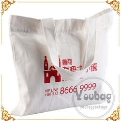 Factory directly recycle customed printed logo plain white cotton canvas tote bag