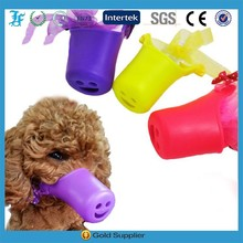 Sexe Woman with Dog Pet bite prevention/Useful Pet product Silicone dog muzzle