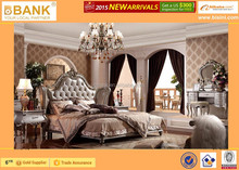 European Classical Series Bedroom Set/High Quality bed/Dressing table/Mirror/Night table-BK0107-0372