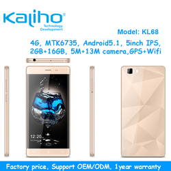 OEM/ODM logo factory supply high quality 5 inch quad core 4g smart mobile phone 16GB