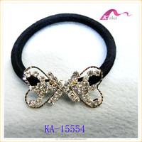 new design rhinestone metallic crystal hair rubber bands