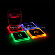 glow promotion led coaster/led light up coaster for party celebrate