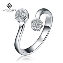 Hot sale silver ring 925 fashion womens silver rings cheap discount engagement rings